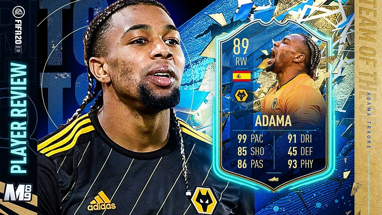 Tots Adama Traore Player Review 89 Tots Adama Traore Review Fifa 20 Ultimate Team Youtube