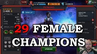 Review of ALL 29 FEMALE Champs for Season 5 | Marvel Contest of Champions