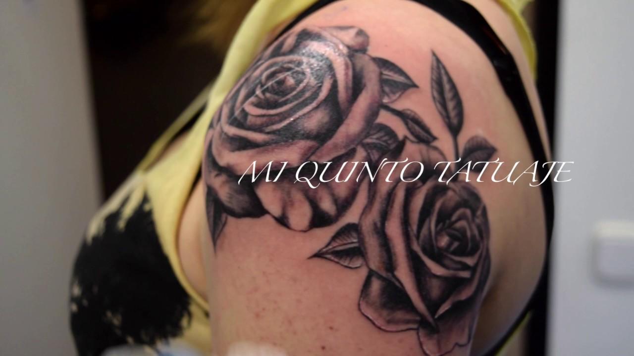 Mi Quinto Tatuaje Mis Rosas Negras My Fifth Tattoo My Black
