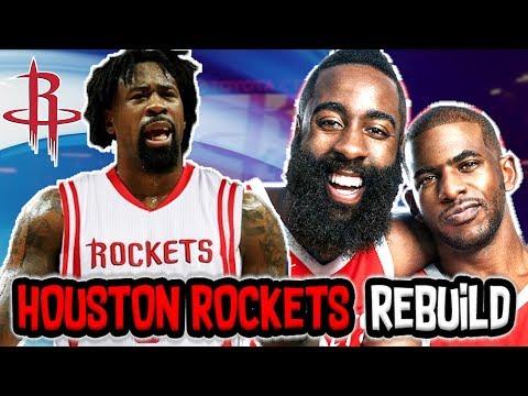 DEANDRE JORDAN HOUSTON ROCKETS REBUILD! NBA 2K18 MY LEAGUE