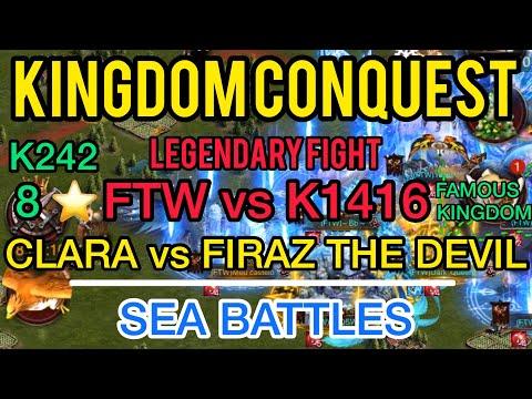 Clash Of Kings - Kingdom Conquest CLARA | FTW Vs K1416 PSA | FIRAZ & Sea Battles