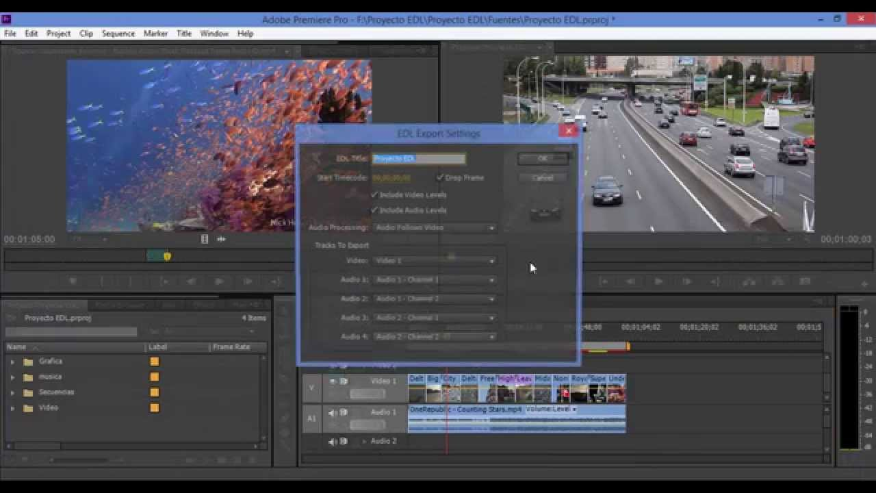 Tutorial EDL en Adobe Premiere