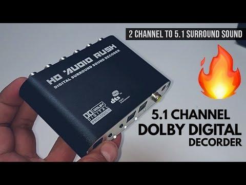 HD Audio Rush 5.1 Dolby Digital Decoder   Optical to RCA 5.1 Converter
