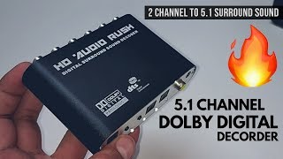HD Audio Rush 5.1 Dolby Digital Decoder | Optical to RCA 5.1 Converter