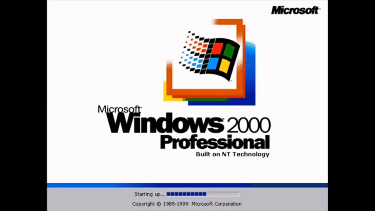 windows 2000 startup and shutdown sounds