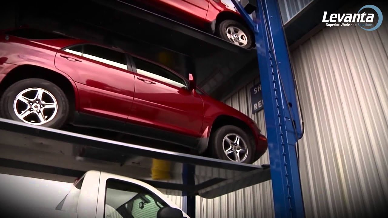 4 post car stacking parking lifts levanta youtube