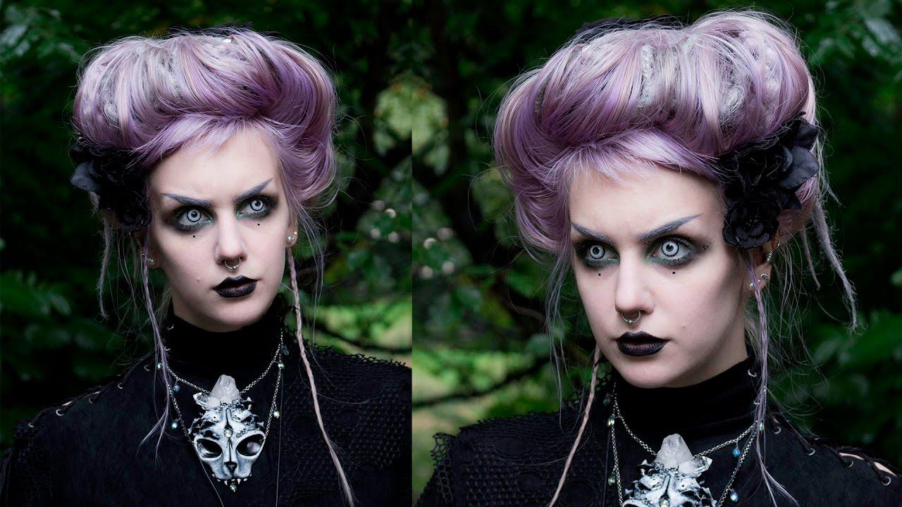 victorian goth hair tutorial