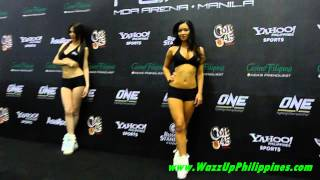 One FC Rise to Power   Ring Girl Christine Hallauer