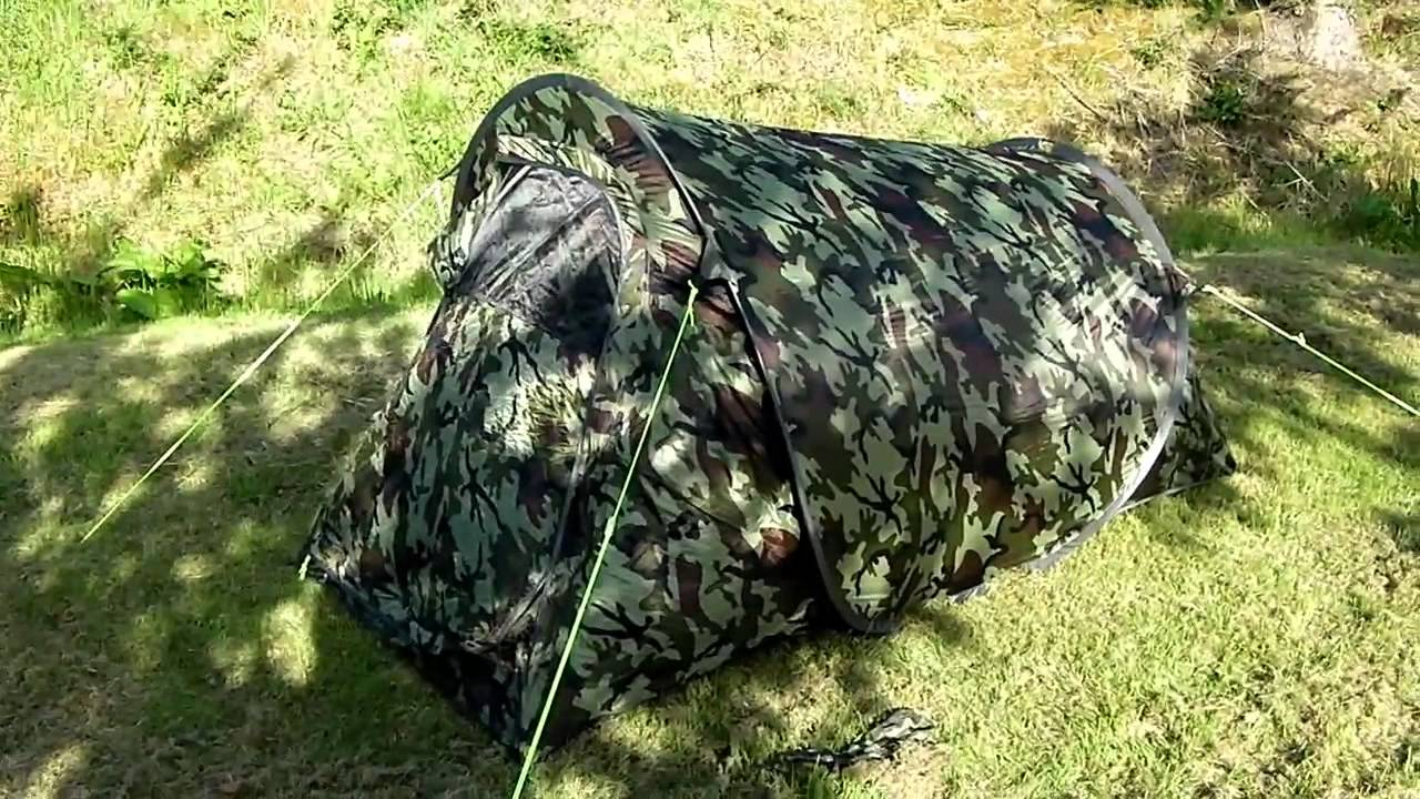 & Gelert Quickpitch compact pop up tunnel tent review - YouTube