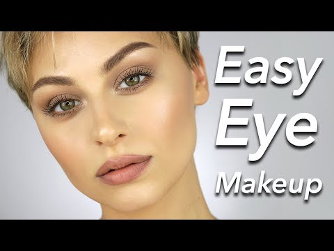 Easy Eye makeup Tutorial for Beginners No Eyeliner | Alexandra Anele