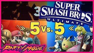 5v5 Squad Strike in SUPER SMASH BROS ULTIMATE! - Party Mode