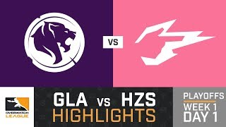 HIGHLIGHTS Los Angeles Gladiators vs. Hangzhou Spark | Playoffs | Week 1 | Day 1 | Overwatch League