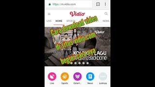 New cara download video di situs vidio.com tanpa software/aplikasi