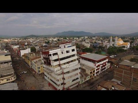 Exclusivo: Los daños del sismo en Ecuador, a vista de drone