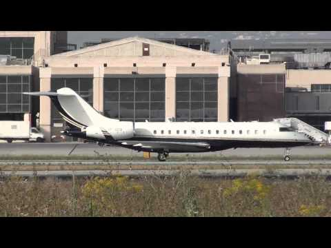 Private Bombardier Global Express BD 700 1A10 VP-BEB Taxing Malaga LEMG