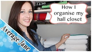 How I Organise - Part 2 - My Hallway Closet
