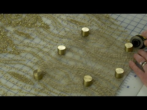 J Stern Designs  l  How to Cut out and Sew Beaded Lace