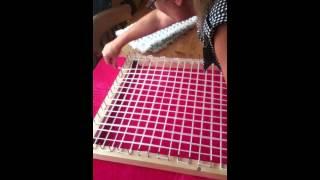 loom board pom pom blanket part 1