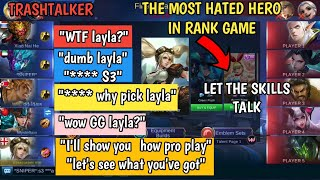 TRASHTALKER IN RANK | I'LL SHOW YOU HOW PRO PLAY | TEAM 🤐🤐🤐 | MOBILE LEGENDS