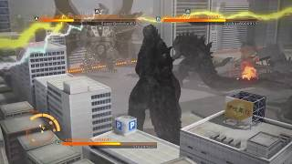 GODZILLA PS4 versus mode : 2 Godzilla 2014 vs mecha king ghidorah