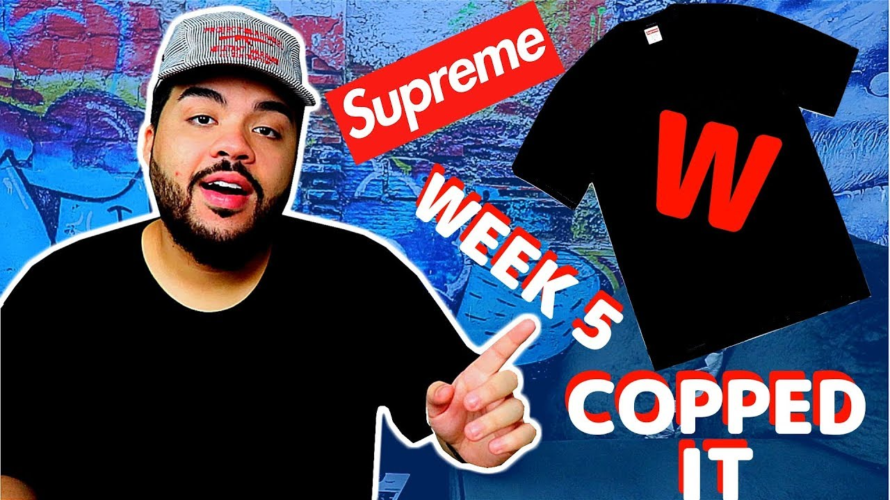 043308418 Supreme Fw18 Week 5 LIVE COP Fall Tee (Manual Checkout) - YouTube