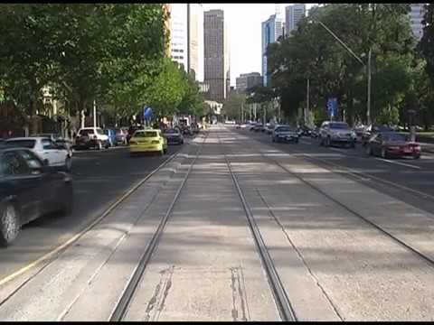 Melbourne Tram Drivers View Feb 2007 Route 96 -See how much Melbourne has changed in 10 years.