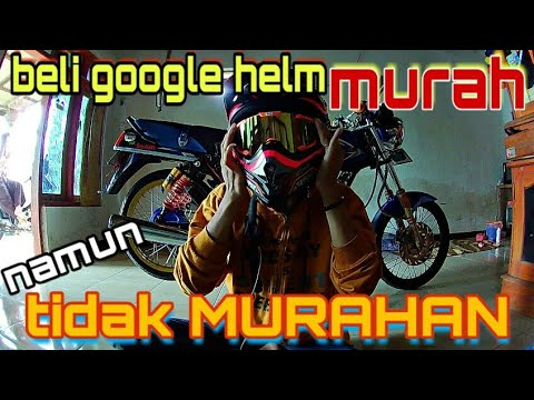 Beli google helm cross murah meriah #vlog