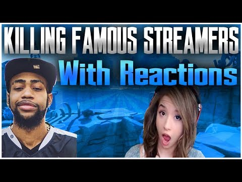 Killing Famous Fortnite Streamers *WITH REACTIONS* (TSM Daequan, Myth, Pokimane, Ghost Aydan + MORE)
