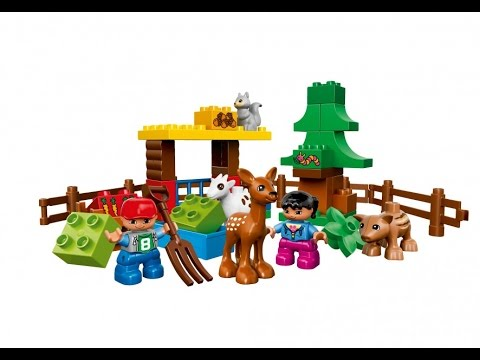 Lego Duplo Klocki Policja Zwierzęta Samochód Wulknizacja Farma Youtube