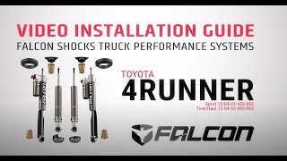 Falcon Shocks Install: Toyota 4Runner System