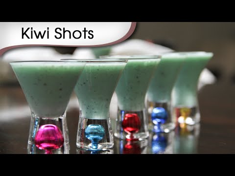 Kiwi Shots - Quick Party Coolers - Easy To Make Mocktail Recipe By Ruchi Bharani
