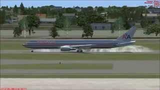 767 Landing in Miami from Cancun FSX HD