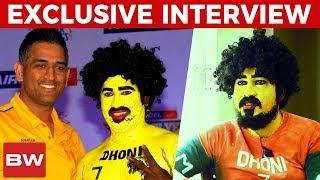 """""""Few stadiums didn't allow me, bcoz I'm a CSK Fan"""" - MS Dhoni Superfan Saravanan"""