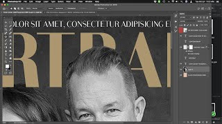 Layer Masking Text on the Maga…