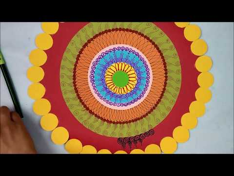 Ganpati decoration ideas for home |DIY Paper Wall Hanging| Room decor ideas| wall hanging craft idea