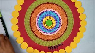 Ganpati decoration ideas for home |DIY Paper Wall Hanging| Room decor ideas| wall hanging craft idea