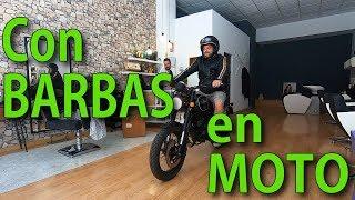 Con BARBAS en MOTO