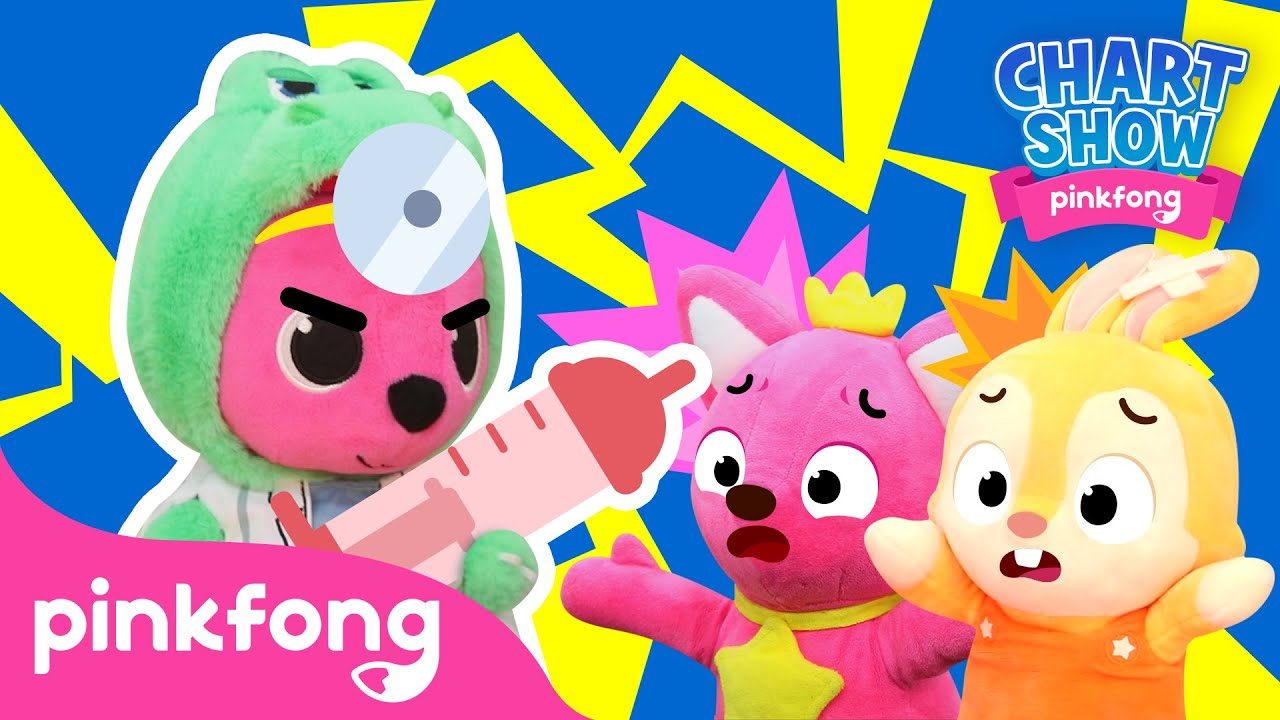 I Don't Like the Hospital😭🏥| Pinkfong Chart Show | Pinkfong Show for Children