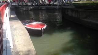 Boat ride at Knoebels