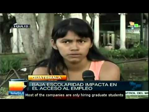 Guatemala: lack of oportunities leads youth to poverty