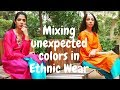 Teal Green Palazzo Color Combinations + Grey & Black Anarkali | What to wear on Indian Festivals?