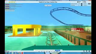 ROBLOX Theme Park Tycoon 2 Journey To Atlantis at SeaWorld San Diego POV Recreation HD Water Coaster