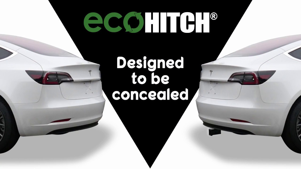 Receiver Hitch Bike Rack >> 2017-2020 Tesla Model 3 EcoHitch Trailer Hitch Installation - YouTube