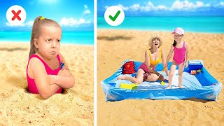 GENIUS SUMMER HACKS || Best Ideas For Crafty Parents