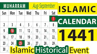 International Arabic Calendar 1441, Islamic months, Hijri Calendar, Islamic new Year, Date Today