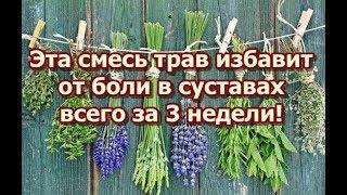 Эта смесь трав избавит от боли в суставах всего за 3 недели!