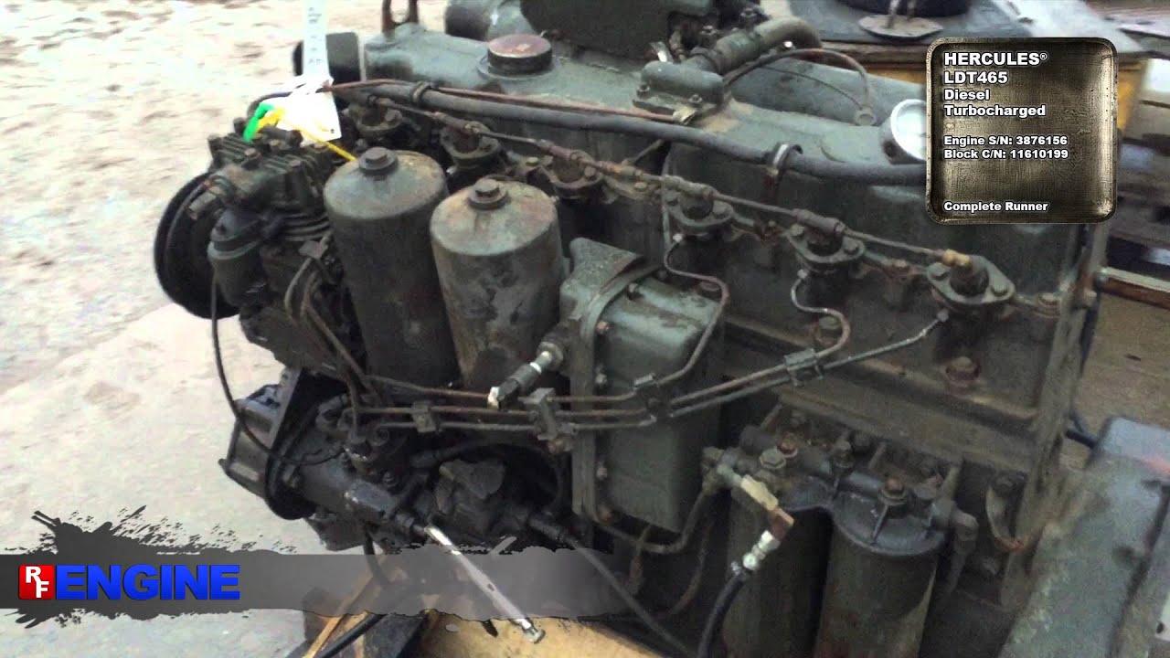 Hci505 Hercules Ldt465 Complete Running Engine Youtube