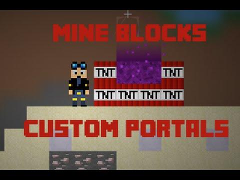 [Mine Blocks] - How To Build Custom Nether Portals