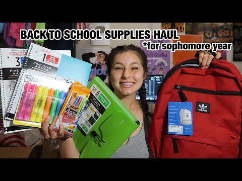 BACK TO SCHOOL SUPPLIES HAUL *SOPHOMORE YEAR 2019 + giveaway