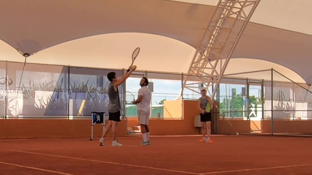Nadal tennis academy day 1 - serve - YouTube